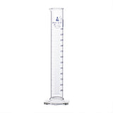 Borosilicate Glass Graduated Cylinder with Hexogonal Base, 250 ml, Class A with Individual Work Certificate, PK/2