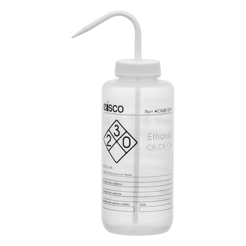 Performance Plastic Wash Bottle, Ethano, 1000 ml - Labeled (2 Color)