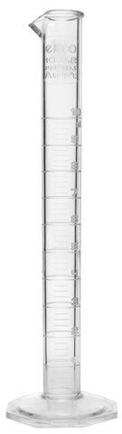 TPX Graduated Cylinder, 10ml,  0.2ml Graduation, Hexagonal Base, Class A, Autoclavable