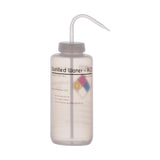 Performance Plastic Wash Bottle, Distilled Water, 1000 ml - Labeled (4 Color)