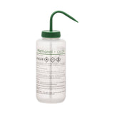 Performance Plastic Wash Bottle, Methanol, 1000 ml - Labeled (2 Color)