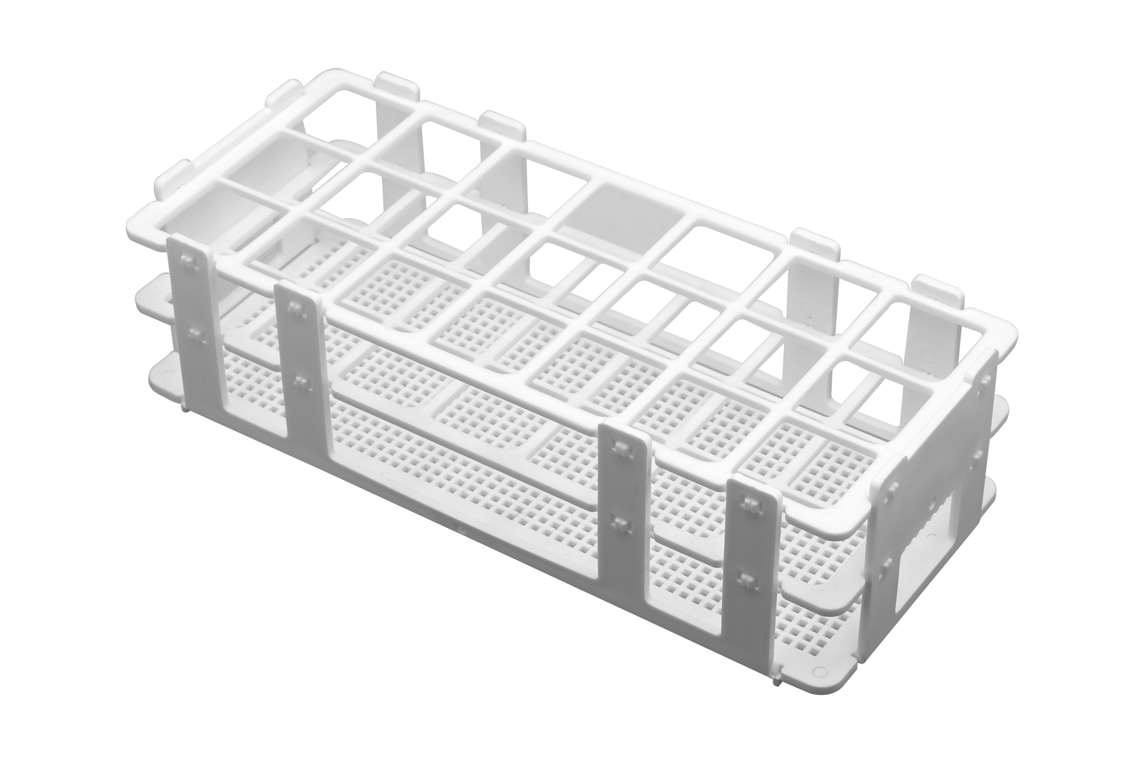 Polypropylene Test Tube Rack, 21 Tubes (30mm)