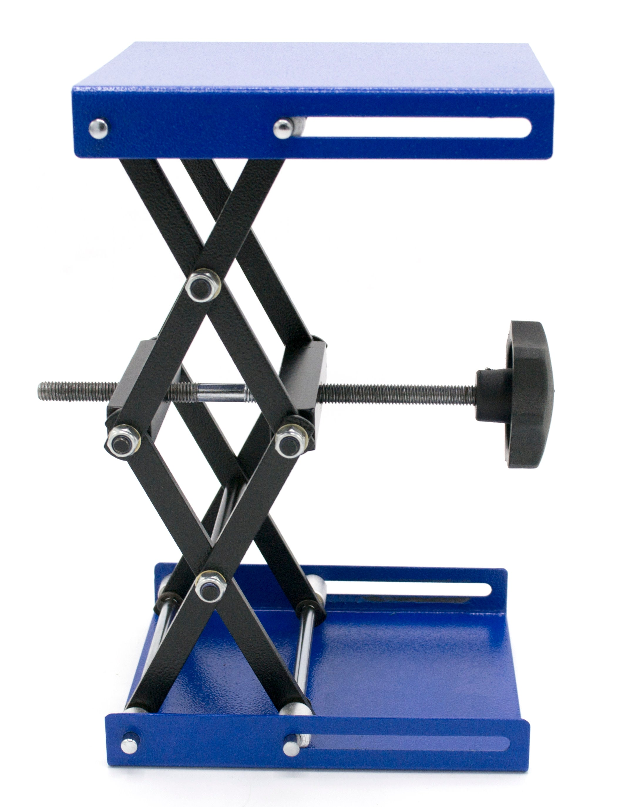 "Steel Lab Jack, Small, 6"" x 5"" surface, 9.5"" max height"