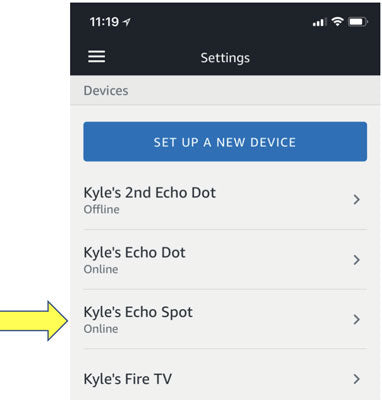 Pair with Alexa - tap your device