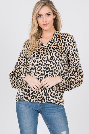 Reese Leopard Print Blouse