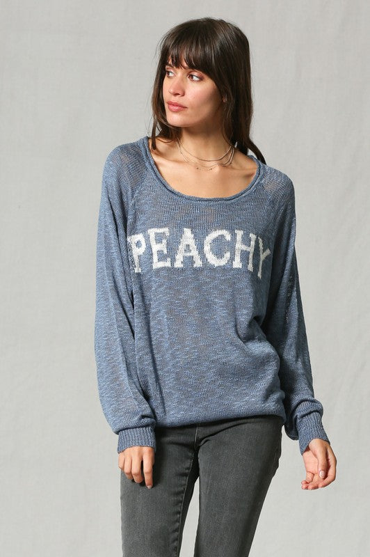 Bella Peachy Sweater