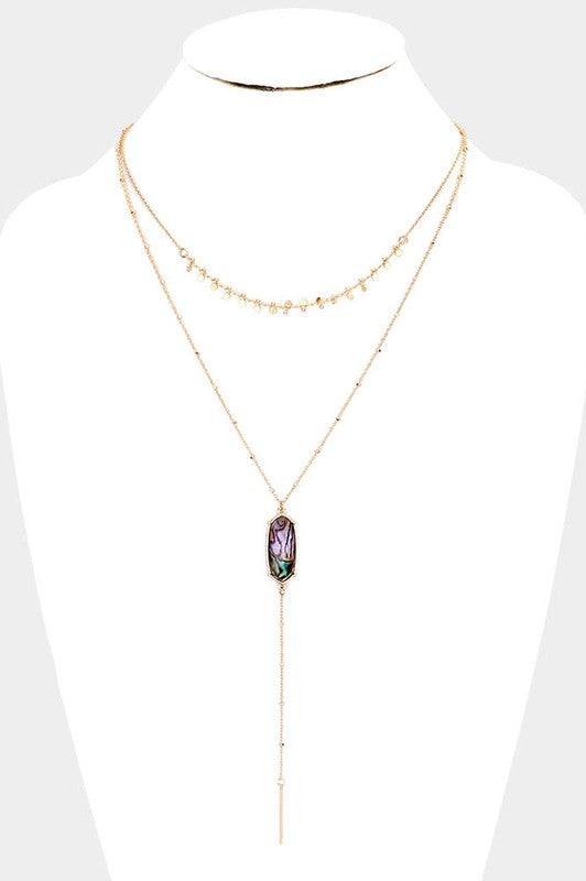 Deb Abalone Oval Double Layered Necklace