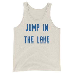 Jump in the Lake Tank (blue) - The Well Dressed Southern Mess
