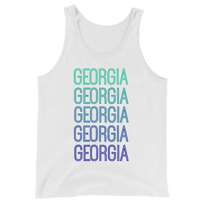 Georgia Blue Ombre Tank - The Well Dressed Southern Mess