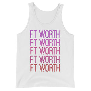 Ft Worth Pink Ombre Tank - The Well Dressed Southern Mess