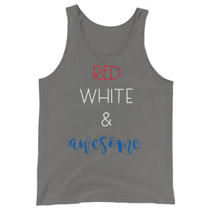 Red White and Awesome Tank - The Well Dressed Southern Mess