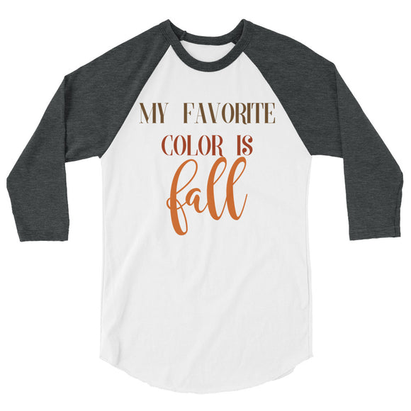 Favorite Color is Fall Raglan