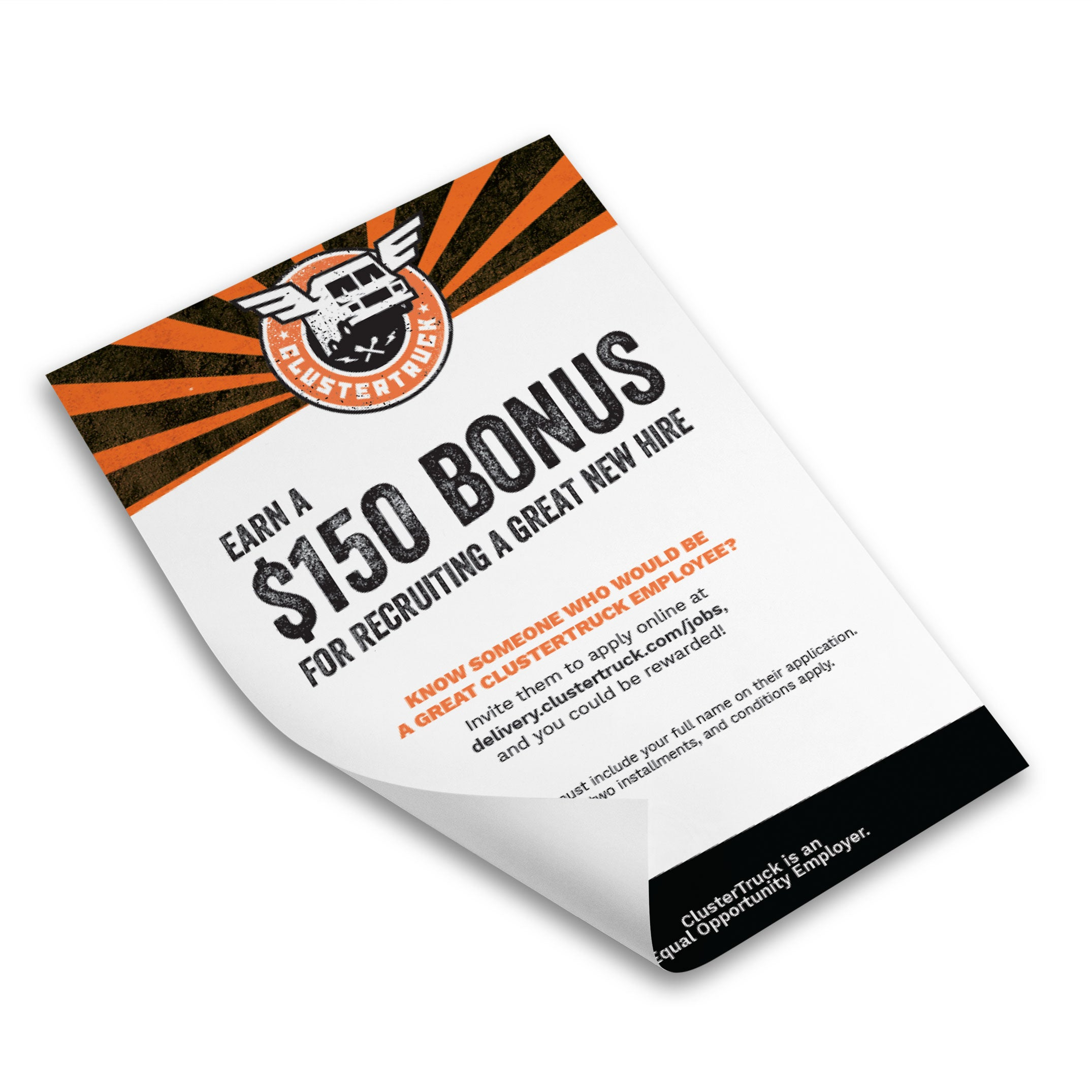referral bonus flyer clustertruck