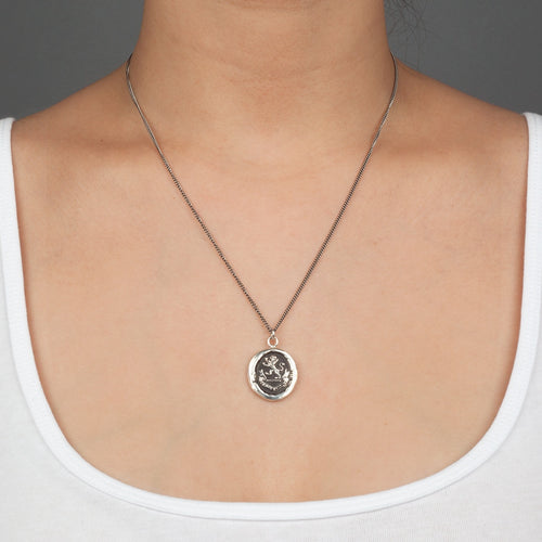 "From God Talisman by Pyrrha 18"" Chain"