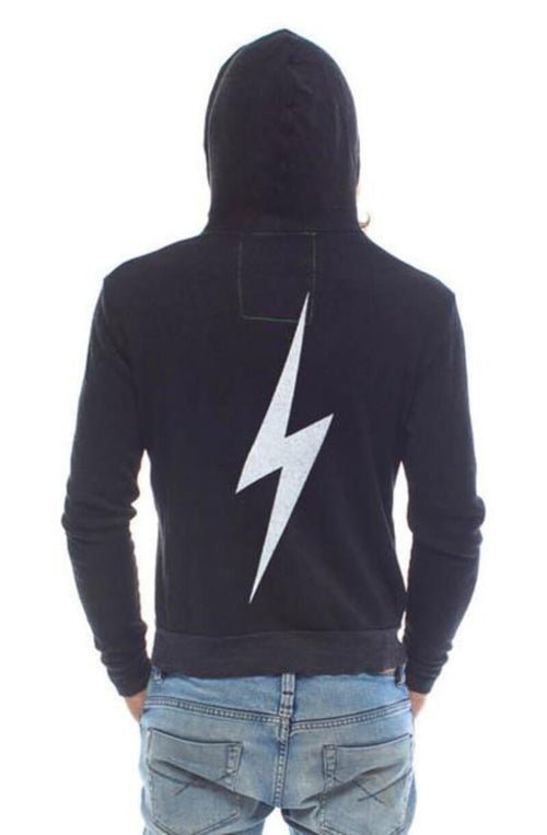 Aviator Nation Bolt Zip Hoodie Char