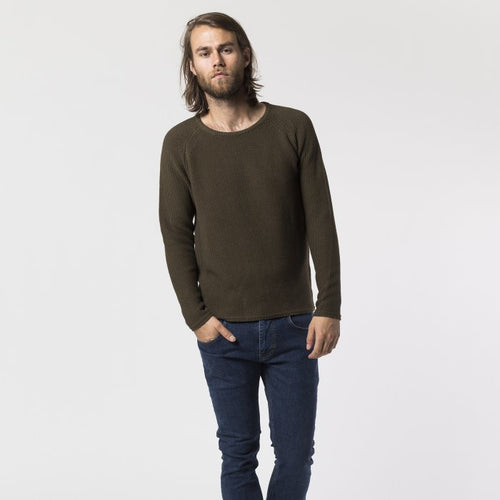 RVLT Morten Army Cotton Knit