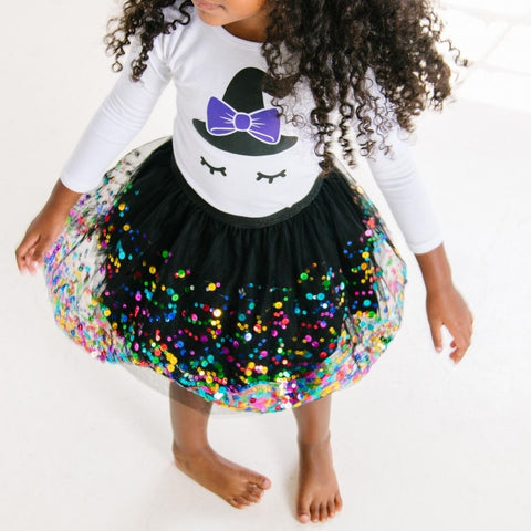Kids Halloween Costume: Witch | Make every day a party with festive tutus, outfits + accessories for babies & kids birthday parties, holidays + dress up! Designed by a mother-daughter duo! | www.shopsweetwink.com