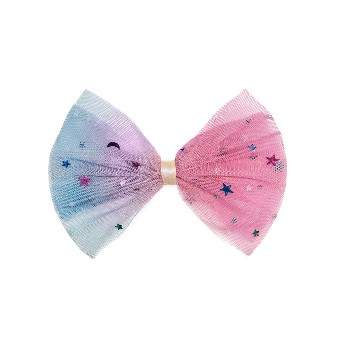 Cotton Candy Bow Clip
