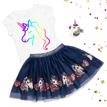 Load image into Gallery viewer, Navy Unicorn Tutu