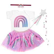 Load image into Gallery viewer, Rainbow Doodle S/S Bodysuit - White