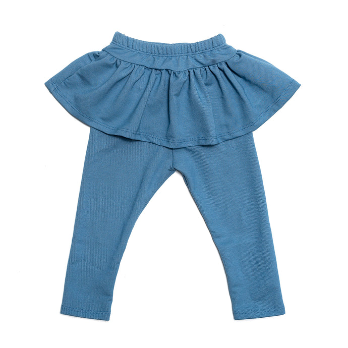 Light Blue/Denim Skirted Legging