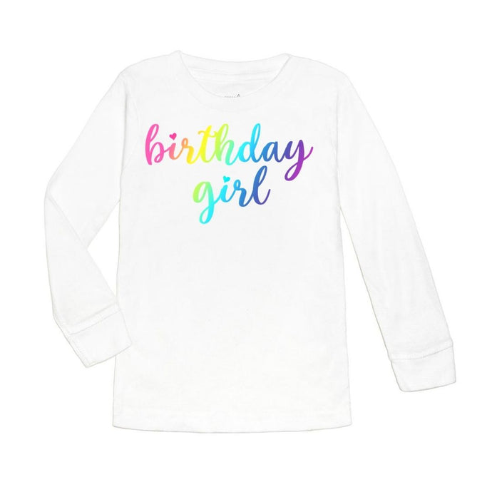 Magical Birthday Girl L/S Shirt - White