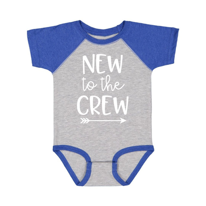 New To The Crew S/S Bodysuit - Heather/Royal