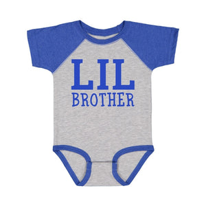 Lil Brother S/S Bodysuit - Heather/Royal