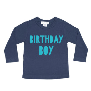 Birthday Boy L/S Shirt - Navy/Blue