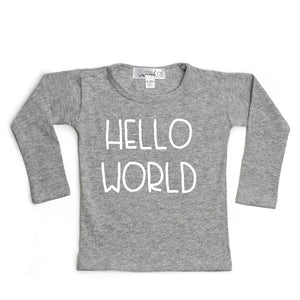 Hello World L/S Shirt - Gray