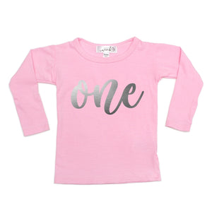 One (Girl) L/S Shirt - Pink