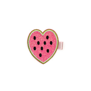 Watermelon Heart Clip
