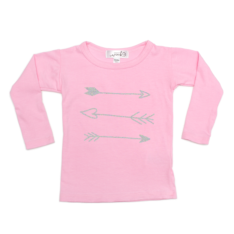 Arrows L/S - Light Pink