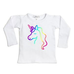 Magical Unicorn L/S Shirt - White