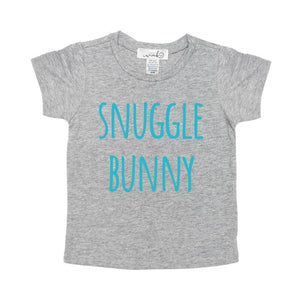 Snuggle Bunny (Boy) S/S Shirt - Gray