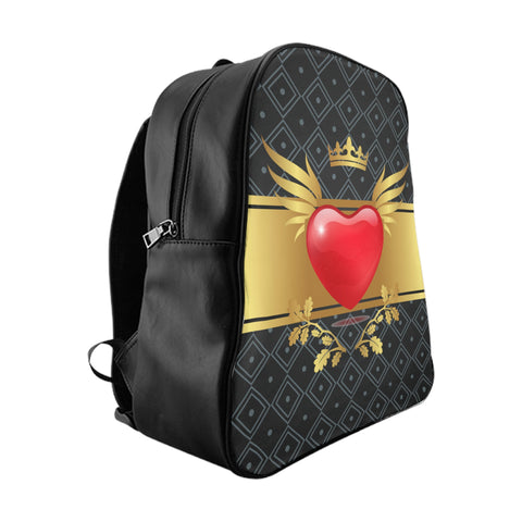 FAO Royal Heart School Backpack Black Luggage - 3 Sizes