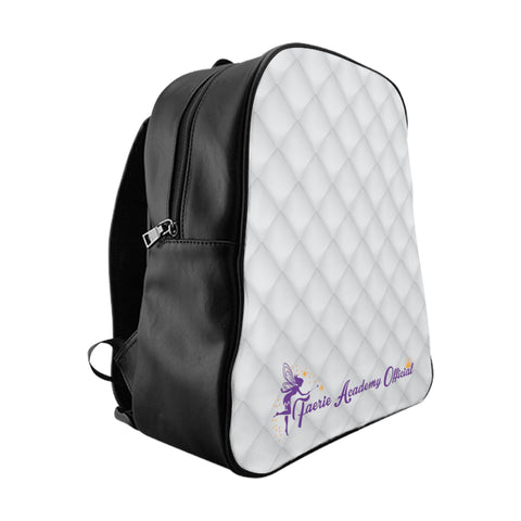 FAO White Quilt Print School Backpack - 3 Sizes Travel Luggage
