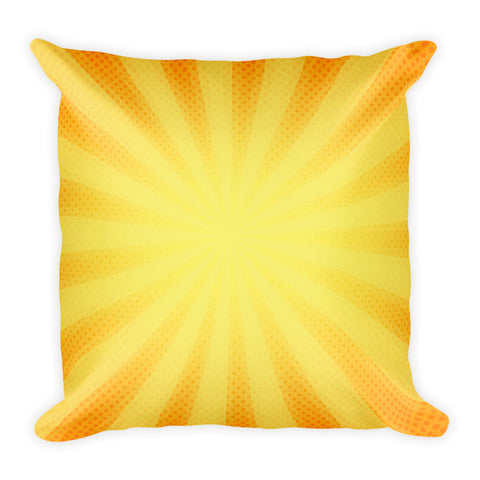 "Square Sunshine Pillow 18"" x 18"""