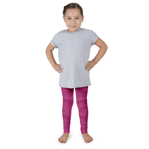 FAO Raspberry Camo Kid's Leggings - Ages 2 to 7