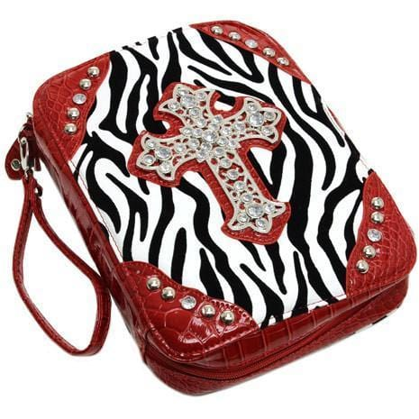 Zebra Print Cross Bible Cover - TRUTH Christian Boutique