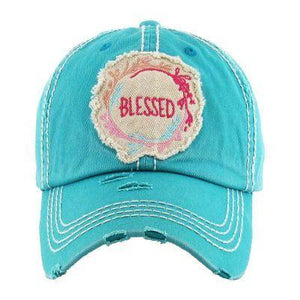"""BLESSED"" Washed Vintage Ball Cap - TRUTH Christian Boutique"
