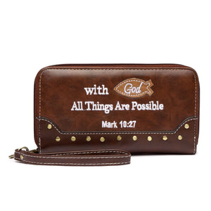 Bible Verse Wallet Wristlet - TRUTH Christian Boutique