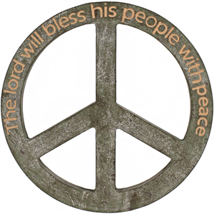 Wood Peace Quote Cross - TRUTH Christian Boutique