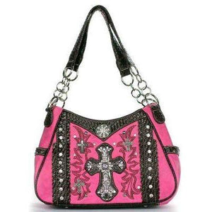 Double Handle Cross Chain Handbag - TRUTH Christian Boutique
