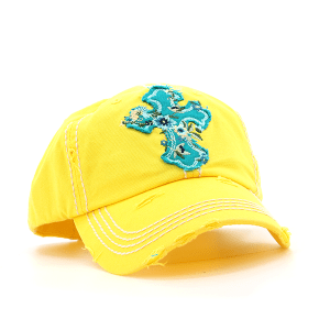 Floral Cross Baseball Cap - TRUTH Christian Boutique