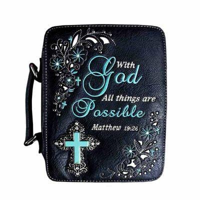 Mathew 19:26 Bible Case - TRUTH Christian Boutique