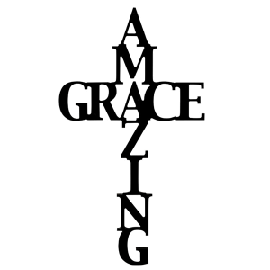 """Amazing Grace"" Die Cut Sign - TRUTH Christian Boutique"