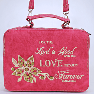 Leather Bible Cover With Quote - TRUTH Christian Boutique