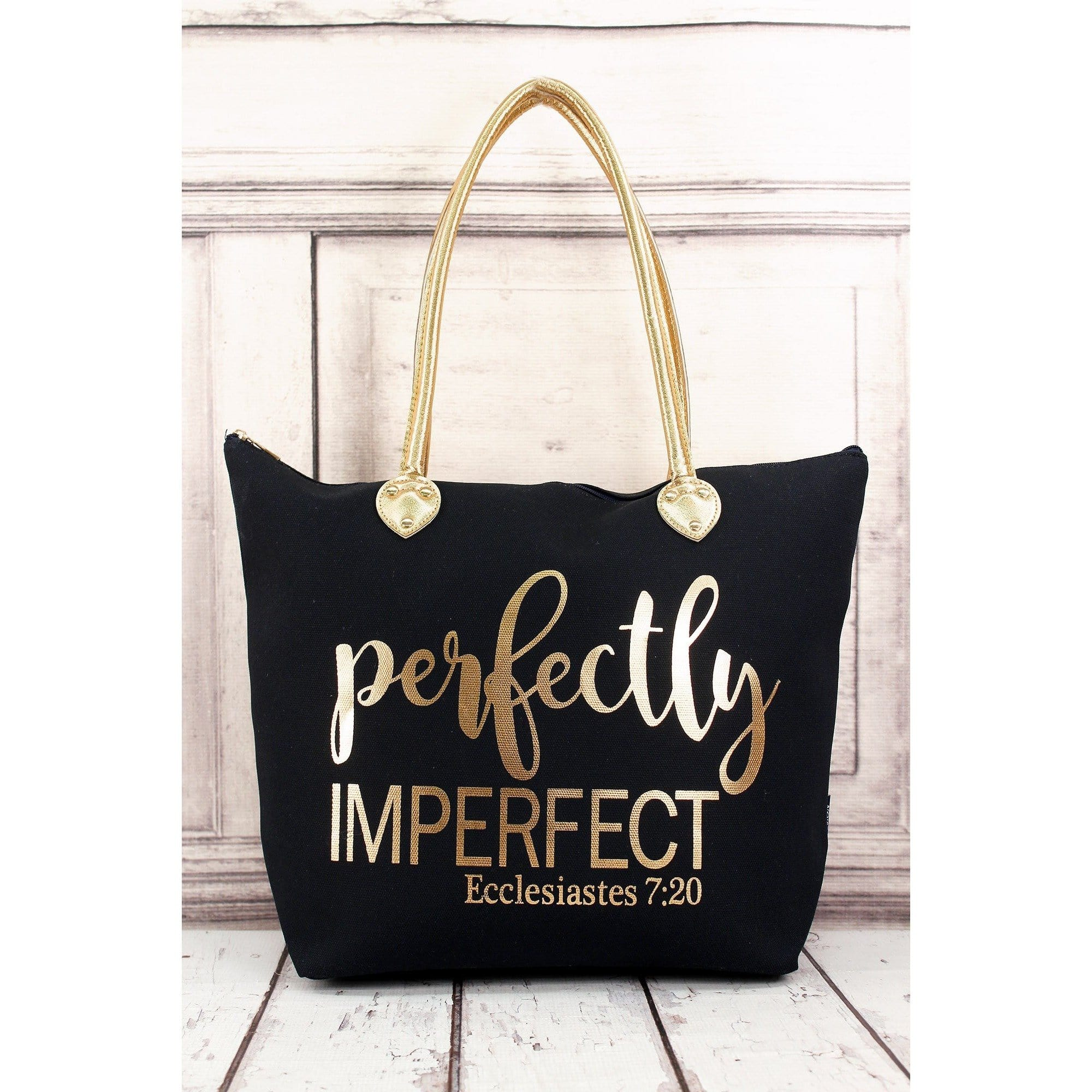 """Perfectly Imperfect"" Metallic Gold Handbag - TRUTH Christian Boutique"