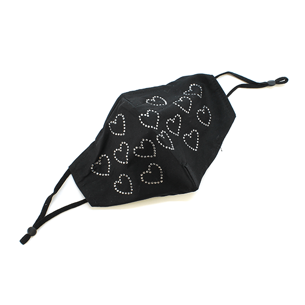 Rhinestone Hearts Mask
